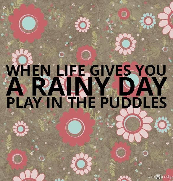 Rainy Day Quotes About Life: 17 Best Images About Think Health! On Pinterest