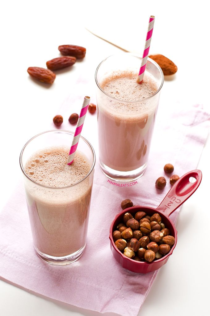 Hazelnut chocolate milk