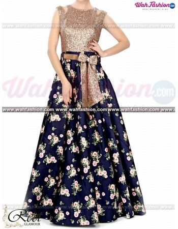 To look graceful on traditional occasions, this Ravishing Navy Blue Floral Gown from Reet Glamour is a must-have. This dress material is prized for its beautiful colour on the top. This dress material is an ideal pick to upgrade your wardrobe for special occasions. Get it stitched as per the latest fashion and flaunt a new look.  For more details Whatsapp us on +919915178418