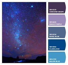 blues deep purples violets starry nighttime monochromatic saturated boys bedroom Paint colors from #ChipIt by #SherwinWilliams