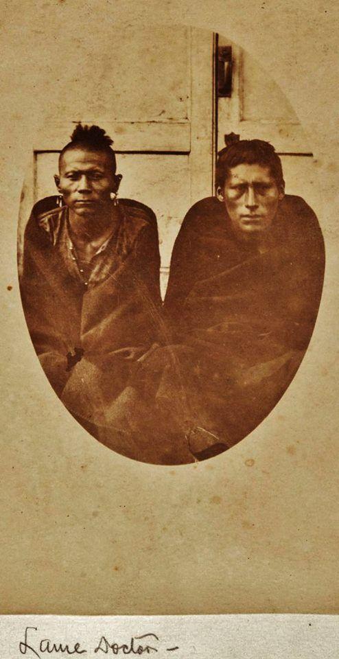 OSAGE MEN , circa 1873