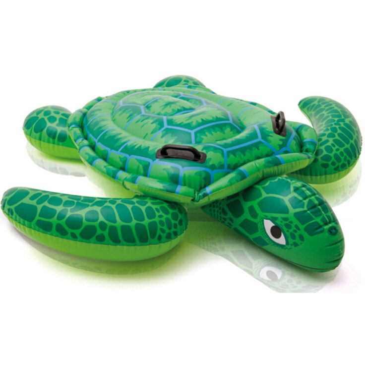 150*127cm Inflatable Sea Turtle Floating Row Children Water Swimming Pool Ride-On Swim Ring Baby Bath Toy TD0066