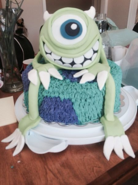 Monsters Inc 3D Cake  Lots of fun to make!