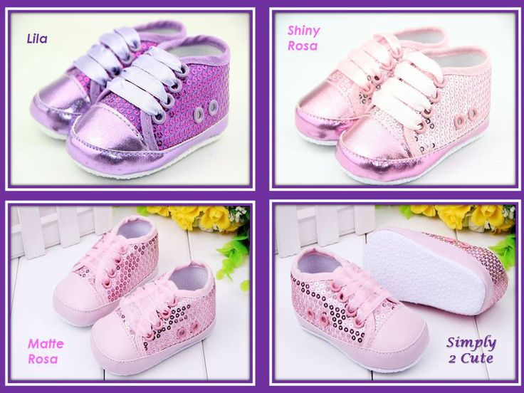 'COSMOS' - sequined sneakers with antislip sole. Suitable for 6-18 month old.