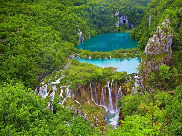 Not only is Croatia's Plitvice Lakes National Park one of southeast Europe's oldest parks, it is also Croatia's largest, with 16 interlinked lakes located between Mala Kapela Mountain and Pljesevica Mountain. The lakes are surrounded by lush forests and waterfalls, whose waters have deposited travertine limestone barriers for years to create the natural dams.
