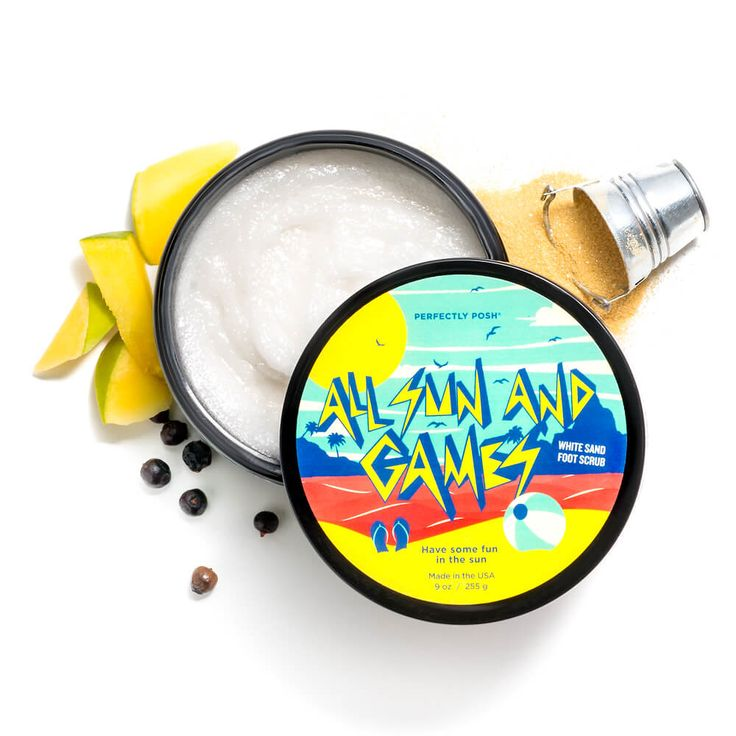 All Sun and Games White Sand Foot Scrub | Perfectly Posh