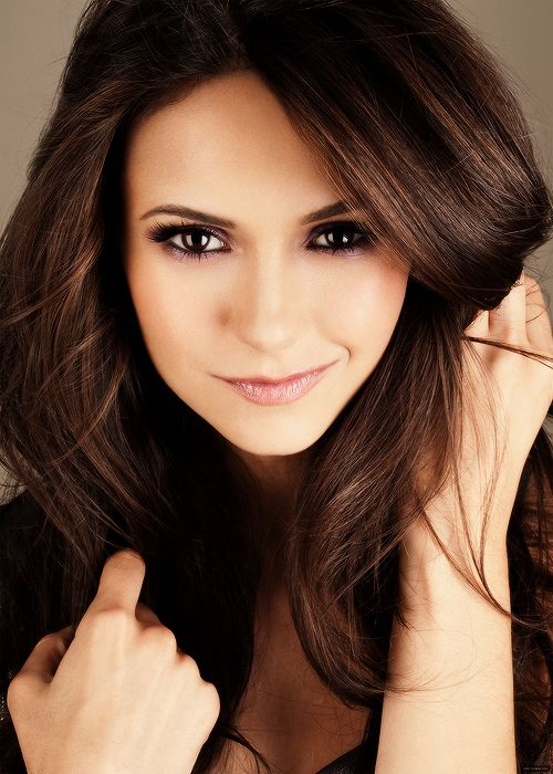 Nina Dobrev; Canadian, fiercely pretty, she's on my favorite TV show, & has the same birthday as me.