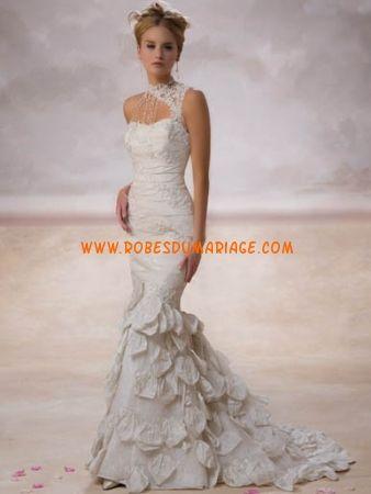 Demetrios robe originale en taffetas robe de mariée longue sirène