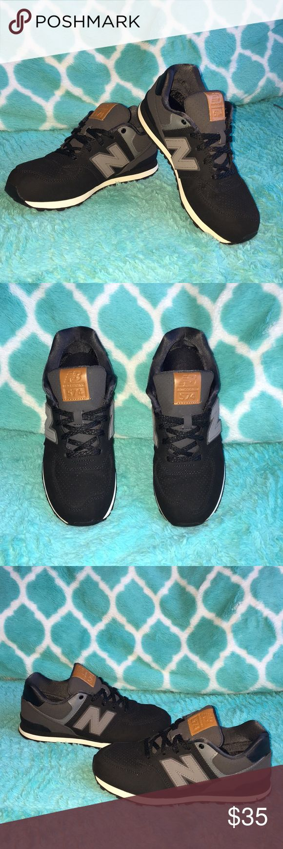 Shoes Tween New Balance 574 Black Athletic Shoe New Balance Shoes Sneakers