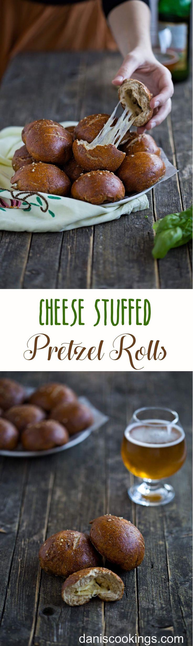 Easy to make homemade Cheese Stuffed Pretzel Rolls | Dani's Cookings blog