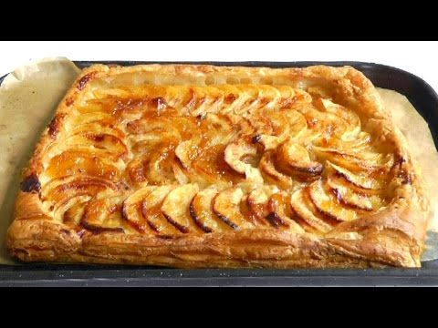 How to Make Apple Tart with puff pastry Easy recipe - http://www.bestrecipetube.com/how-to-make-apple-tart-with-puff-pastry-easy-recipe/
