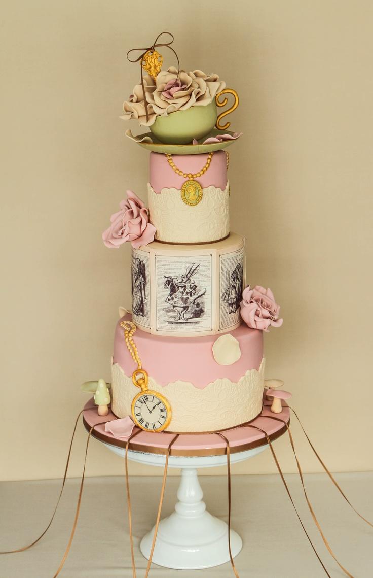 Ribbon Pull Wedding Cake