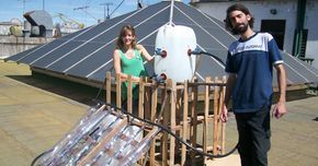Como construir un calentador solar casero con botellas de plástico Construir un calentador solar de bajo costo con material recicla...
