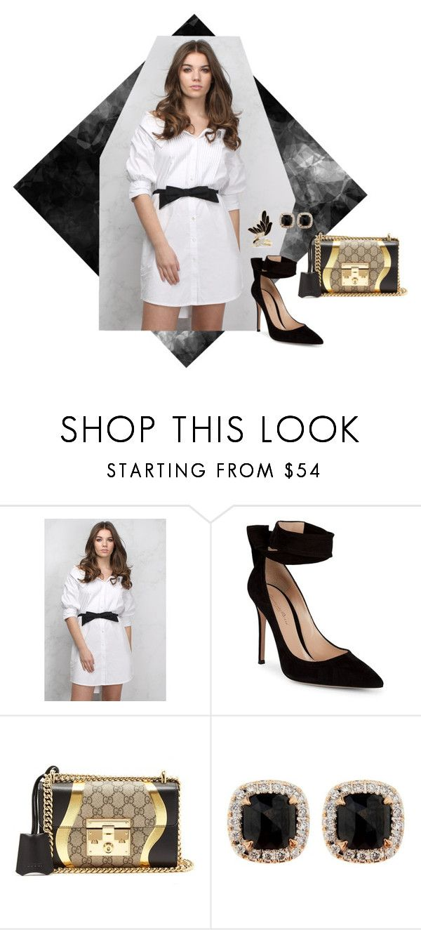 """Sem título #2775"" by mprocedi ❤ liked on Polyvore featuring Rare London, Gianvito Rossi, Gucci, Jona and Lanvin"