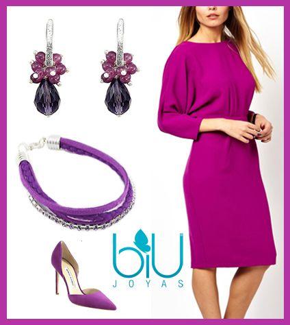 Orquídea radiante, el color del 2014, en joyas BIU www.biu.cl