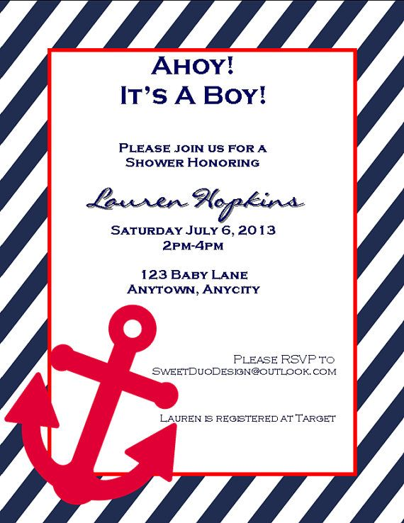 Ahoy It's A Boy  Adorable Nautical Baby Shower by SweetDuoDesign, $7.00