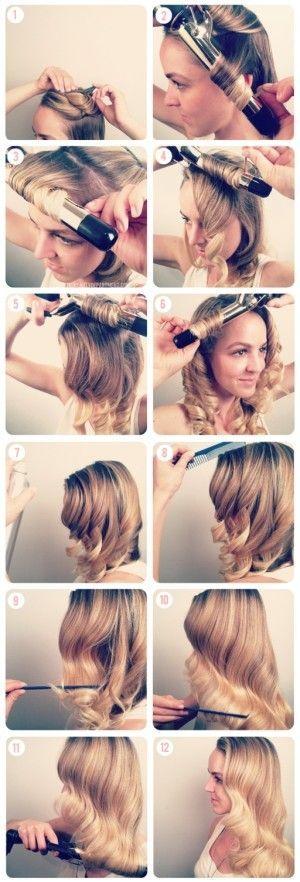How to create simple vintage waves hair tutorial