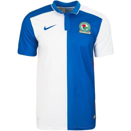 2015/6 Blackburn Rovers Nike Home Jersey (White & Blue)