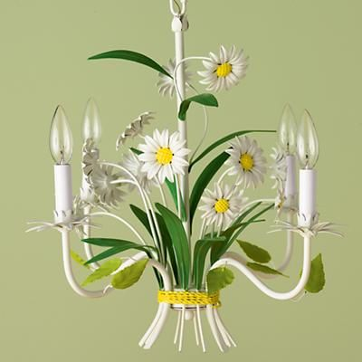 Daisy-Inspired Chandelier Light - not just for kiddos anymore! I want you in my walk-in closet!