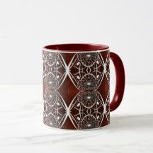 Beautiful White Abstract Pattern Mug