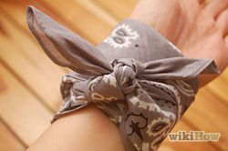 Make a Bandana Bracelet - wikiHow...need this for my arm piece I just got
