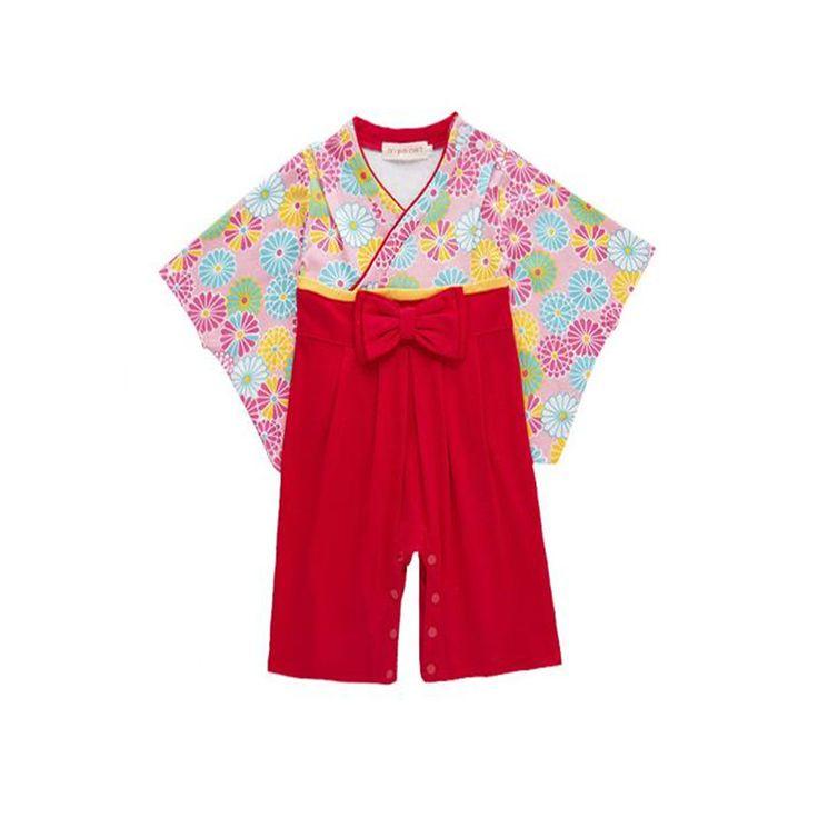 赤ちゃんの女の子の綿プリント日本着物かわいい赤ちゃん女の子ロンパース幼児bebes長袖カバーオール赤ちゃん服ハロウィンギフト