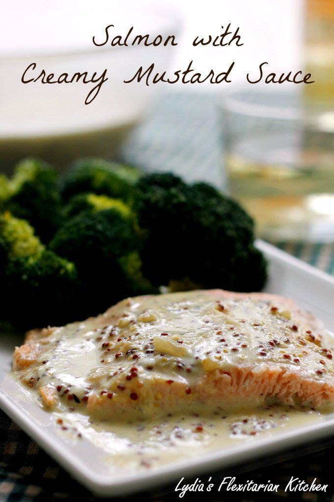 Creamy mustard sauce, Mustard and Salmon on Pinterest