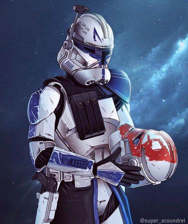 501st Captain Rex Commander Rex Made By U Super Scoundrel Swrpg Star Wars Poster Star Wars Wallpaper Star Wars Pictures