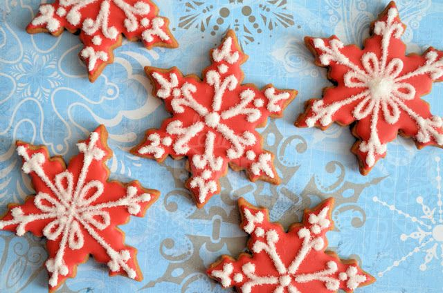 Sneeuwvlok koekjes