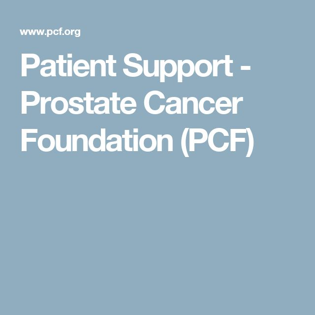 Patient Support - Prostate Cancer Foundation (PCF)