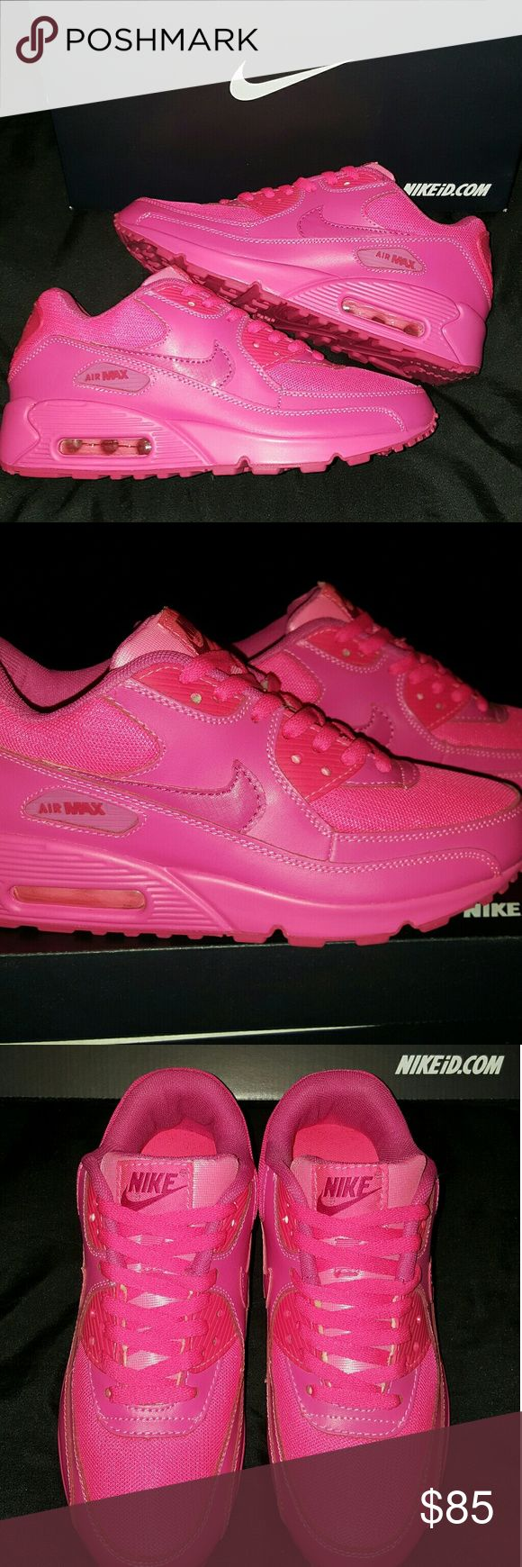 💥BRAND NEW NIKE ID HYPERFUSE AIR MAX 💥 Hot PINK Nike ID Air Max Hyperfuse. Rare color! Brand new, never worn.  Original box and still has tissue and original lacing. Super cute workout shoes!! Great comfortable sneakers!   *********************************** ✔ Same to Next day shipping!  ✔ Feel free to ask questions!   🚫 No trades, sorry!   🤗 Thank you for looking!  *********************************** Nike Shoes Sneakers
