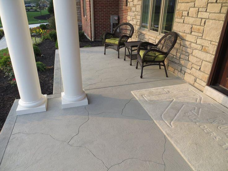 High Quality Custom Carved Flagstone Concrete Porch In Burlington, Kentucky. Beton  VerandaDekorativer BetonSteinplattenTerrasseKentucky