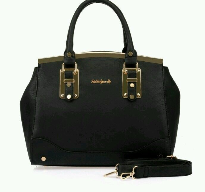 Black Sally Young Metal Detail Handbag
