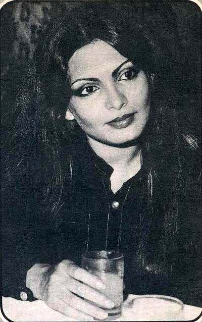 Parveen Babi (4 April 1949 – 20 January 2005) was an Indian actress, who is most remembered for her glamorous roles alongside top heroes of the 1970s and early 1980s in blockbusters like Deewar, Namak Halaal, Amar Akbar Anthony and Shaan.[1][2] She is often cited as one of the most beautiful actresses to have ever appeared in Indian cinema.