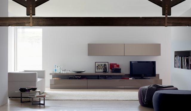Mueble de Salón estilo minimalista en tonos claros - Zb muebles Zaragoza