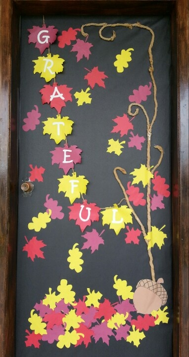 Thanksgiving and Fall door decoration