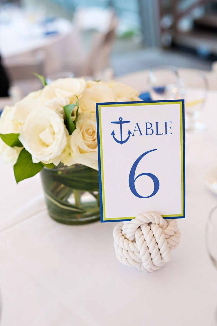 Monkey fist knot placecard holders for your nautical dinner party, or a wedding! By Mystic Knotwork: http://mysticknotwork.com/collections/wedding/products/nautical-wedding-knot-original-3-pass-monkey-fist