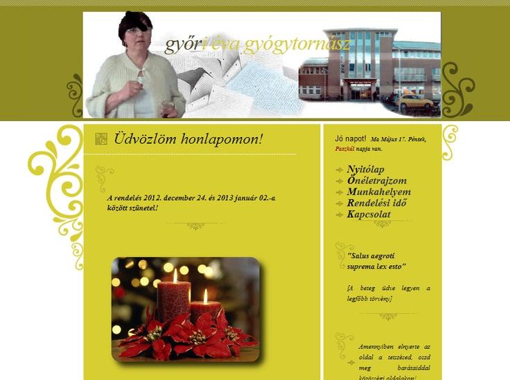 Győri Éva gyógytornász weboldala