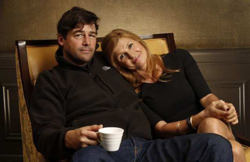 My TV mom and dad. Awkward because he is also my ideal TV husband.