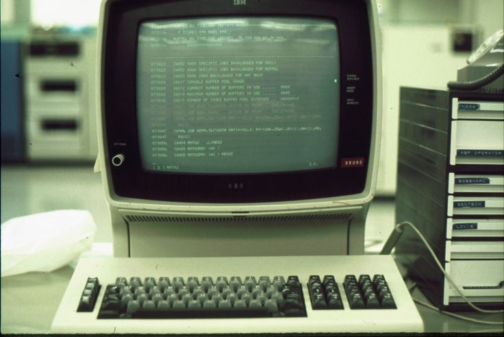 System console of IBM 370/158 running JES3 (1975)