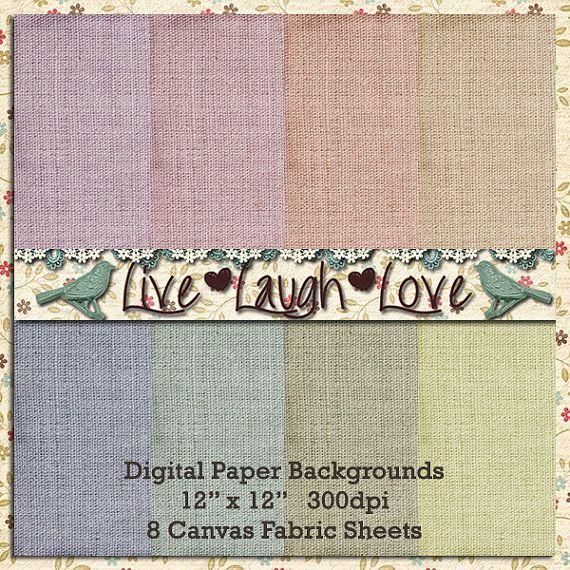 Digital Paper Backgrounds Canvas Linen by MKLiveLaughLoveShop, $3.50