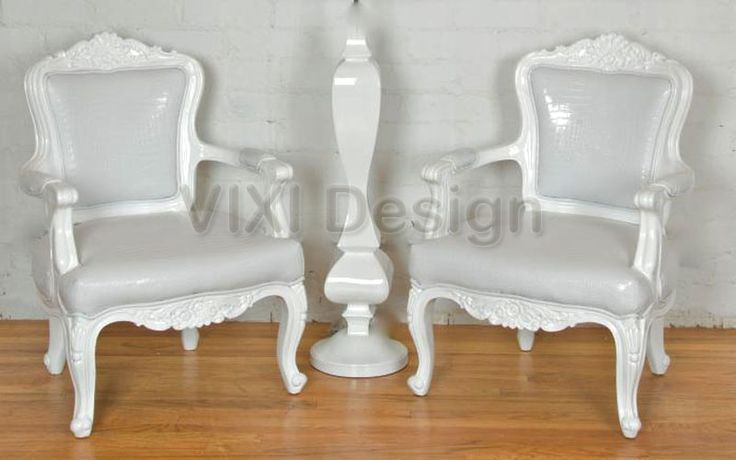 Modern rococo furniture modern victorian armchair white for Contemporary victorian furniture