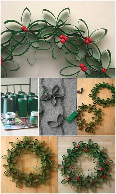 Paper-Roll-Christmas-Wreath.jpg 402×670 pixels