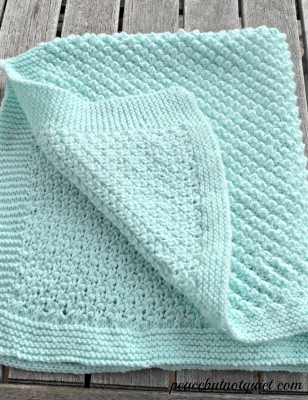 An adorable popcorn baby blanket pattern Stitches, Knitting patterns baby a...