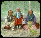 Sampson Beaver's family '06 [Sampson, Frances Louise and Leah Beaver], 1906, (V527/PS 1–5, Mary Schäffer fonds), WMCR