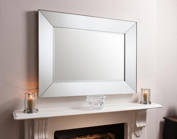 Contemporary Gallery Vasto Wall Mirror Angled Mirrored Frame