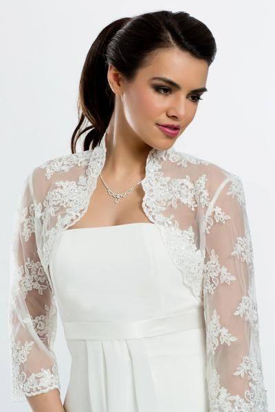 bolero de novia sevilla precioso bolero de novia con encaje adornado a mano con perlas