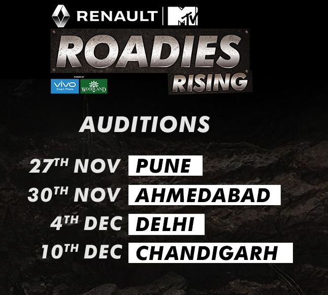 Your Wait is Over Here Come The Audition Dates of MTV Roadies.(adsbygoogle = window.adsbygoogle || []).push({}