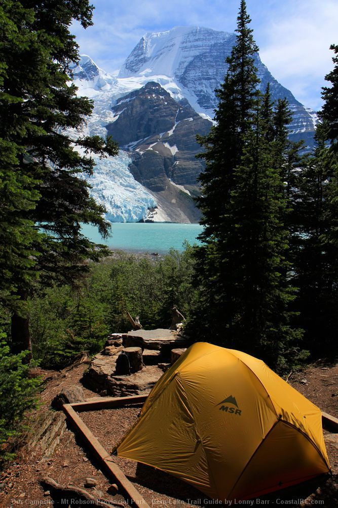 Our Campsite - Mt Robson Provincial Park - Berg Lake Trail Guide by Lonny Barr