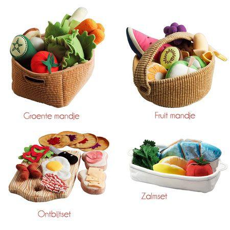 Zelfmaak groente, fruit en ander eten van vilt - Patries.nu